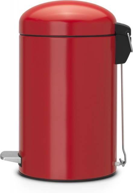 Brabantia Pedaalemmer Retro Bin.Brabantia Retro Bin Silent Prullenbak 12 L Passion Red